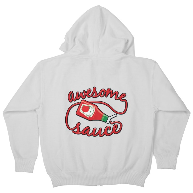 Awesome Sauce Kids Zip-Up Hoody by detourshirts's Artist Shop