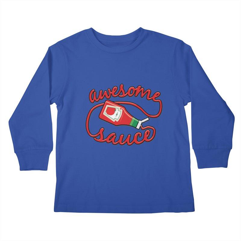 Awesome Sauce Kids Longsleeve T-Shirt by detourshirts's Artist Shop