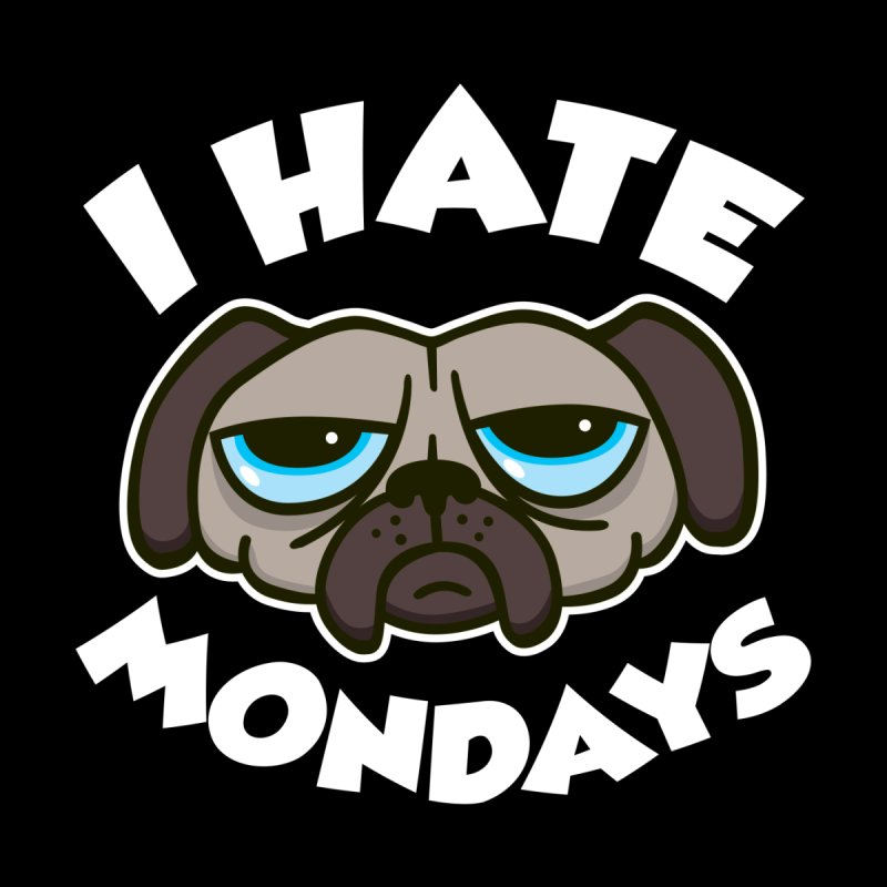 I Hate Mondays Kids Longsleeve T-Shirt by Detour Shirt's Artist Shop