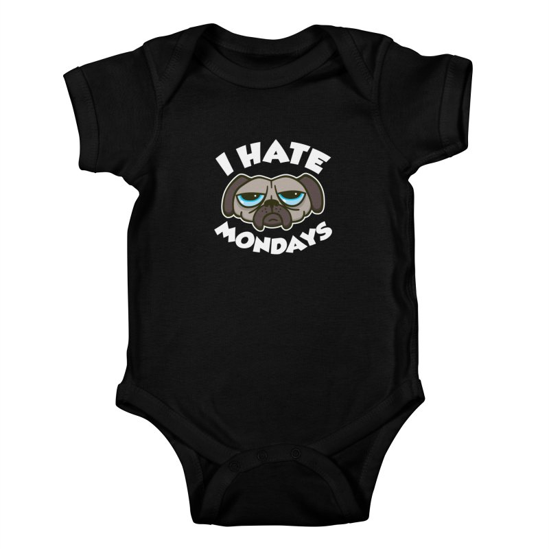 I Hate Mondays Kids Baby Bodysuit by Detour Shirt's Artist Shop