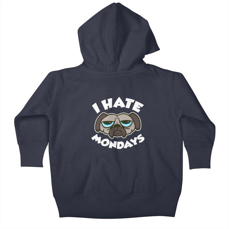 I Hate Mondays Kids Baby Zip-Up Hoody by Detour Shirt's Artist Shop