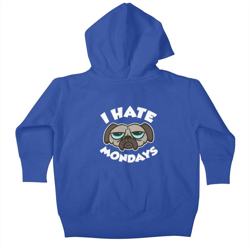 I Hate Mondays Kids Baby Zip-Up Hoody by detourshirts's Artist Shop