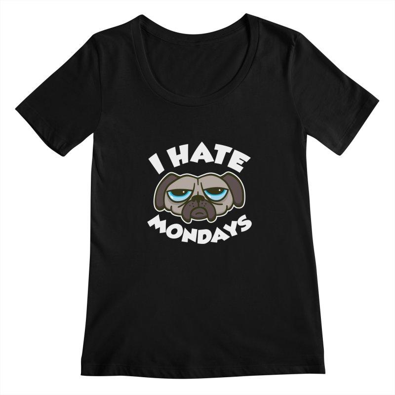 I Hate Mondays Women's Scoopneck by detourshirts's Artist Shop