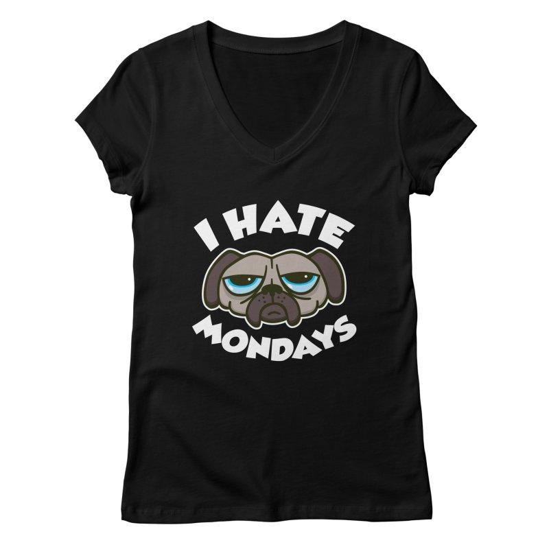 I Hate Mondays Women's V-Neck by detourshirts's Artist Shop