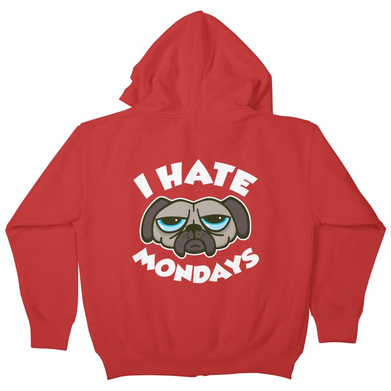 I Hate Mondays Kids Zip-Up Hoody by detourshirts's Artist Shop