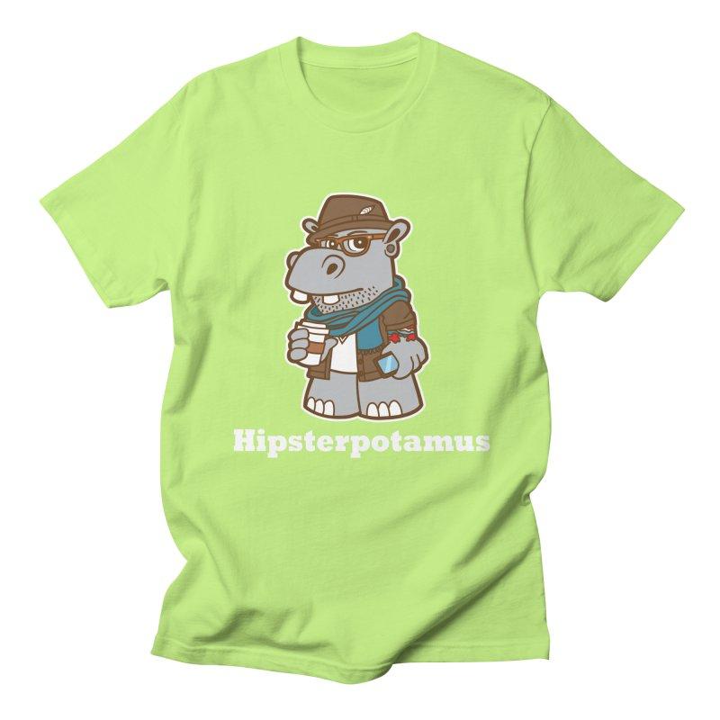 Hipsterpotamus Men's Regular T-Shirt by Detour Shirt's Artist Shop