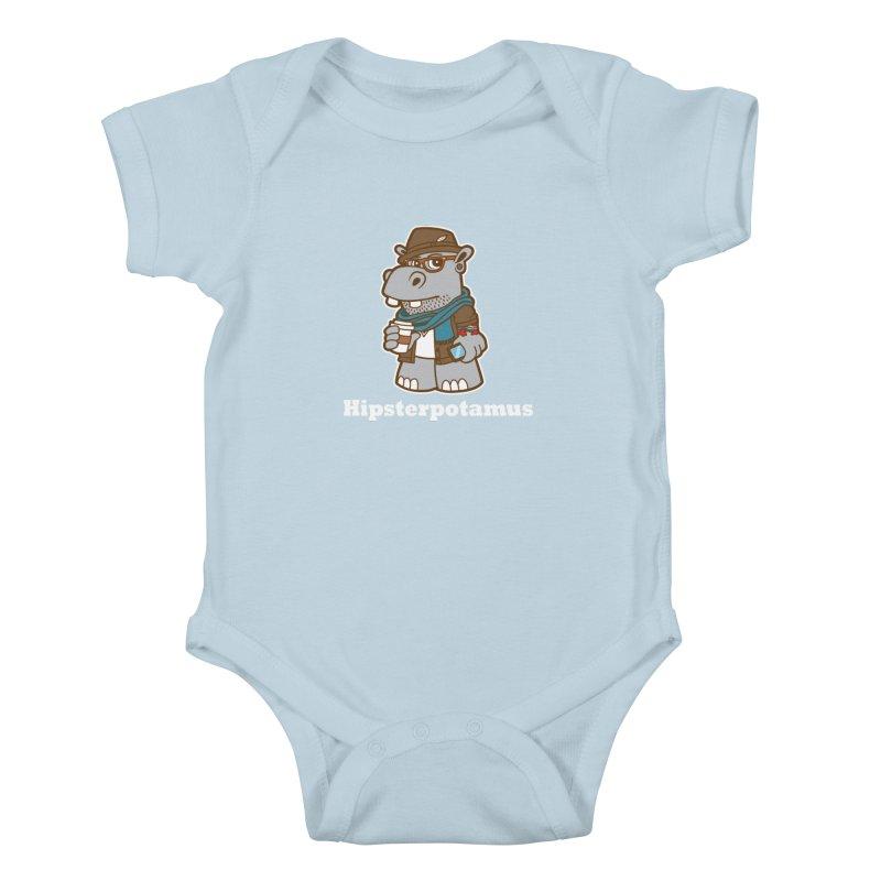 Hipsterpotamus Kids Baby Bodysuit by detourshirts's Artist Shop