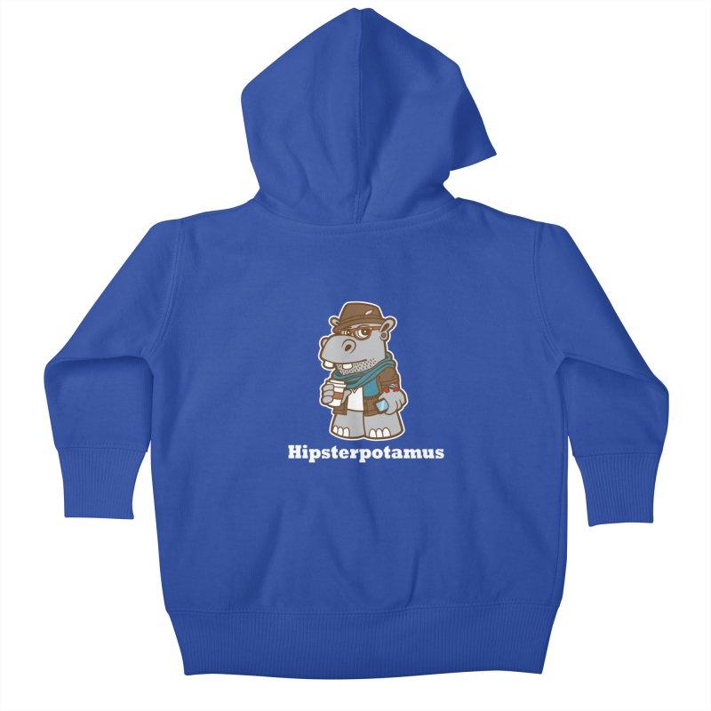 Hipsterpotamus Kids Baby Zip-Up Hoody by detourshirts's Artist Shop