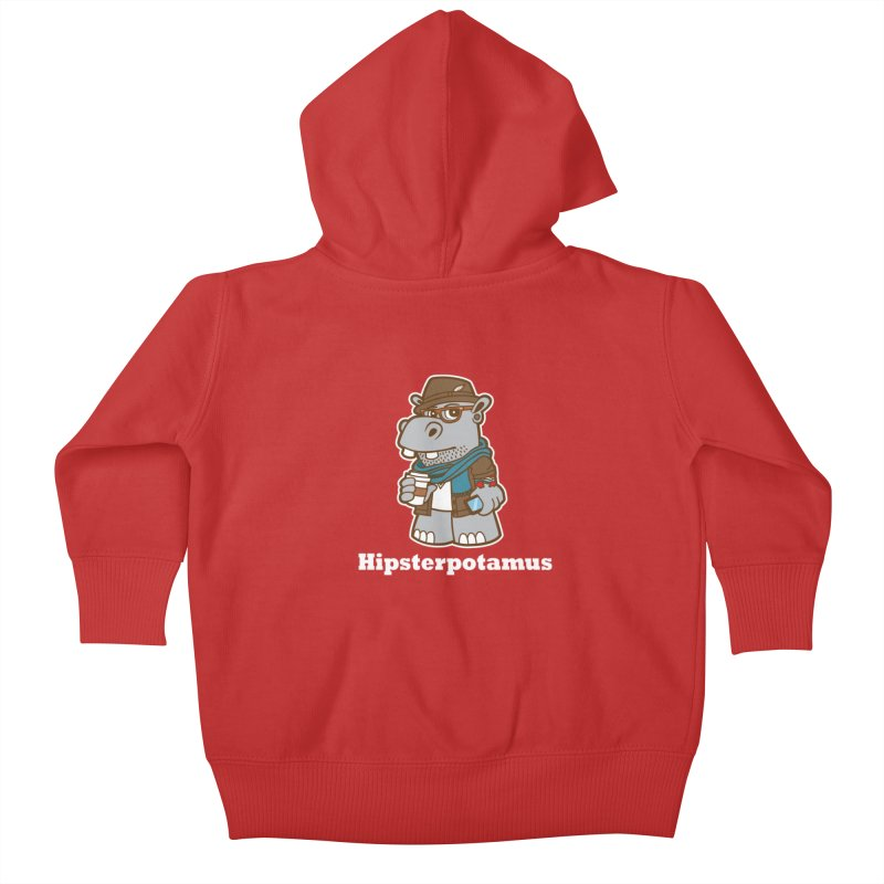 Hipsterpotamus Kids Baby Zip-Up Hoody by detourshirts's Artist Shop
