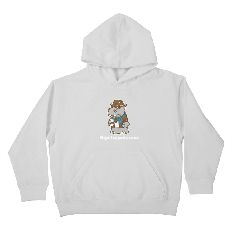 Hipsterpotamus Kids Pullover Hoody by detourshirts's Artist Shop