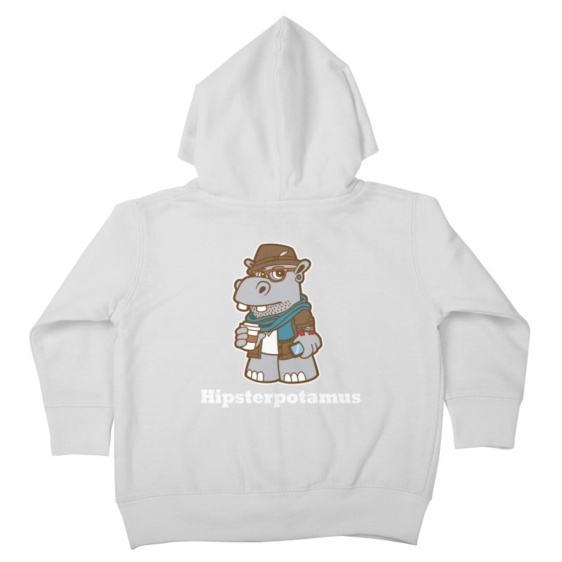 Hipsterpotamus Kids Toddler Zip-Up Hoody by detourshirts's Artist Shop