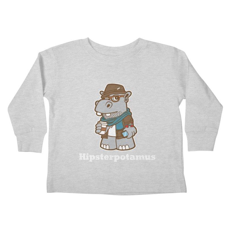 Hipsterpotamus Kids Toddler Longsleeve T-Shirt by detourshirts's Artist Shop