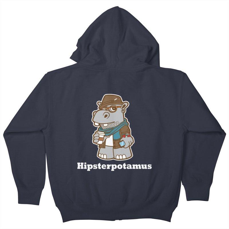 Hipsterpotamus Kids Zip-Up Hoody by detourshirts's Artist Shop