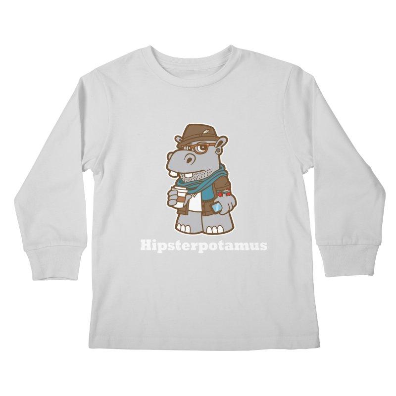 Hipsterpotamus Kids Longsleeve T-Shirt by detourshirts's Artist Shop