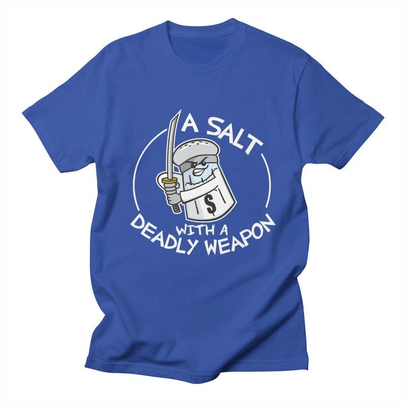 A Salt with a Deadly Weapon Men's T-shirt by detourshirts's Artist Shop