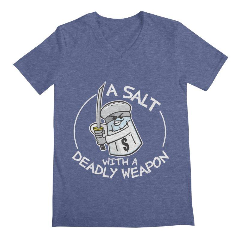 A Salt with a Deadly Weapon Men's V-Neck by detourshirts's Artist Shop
