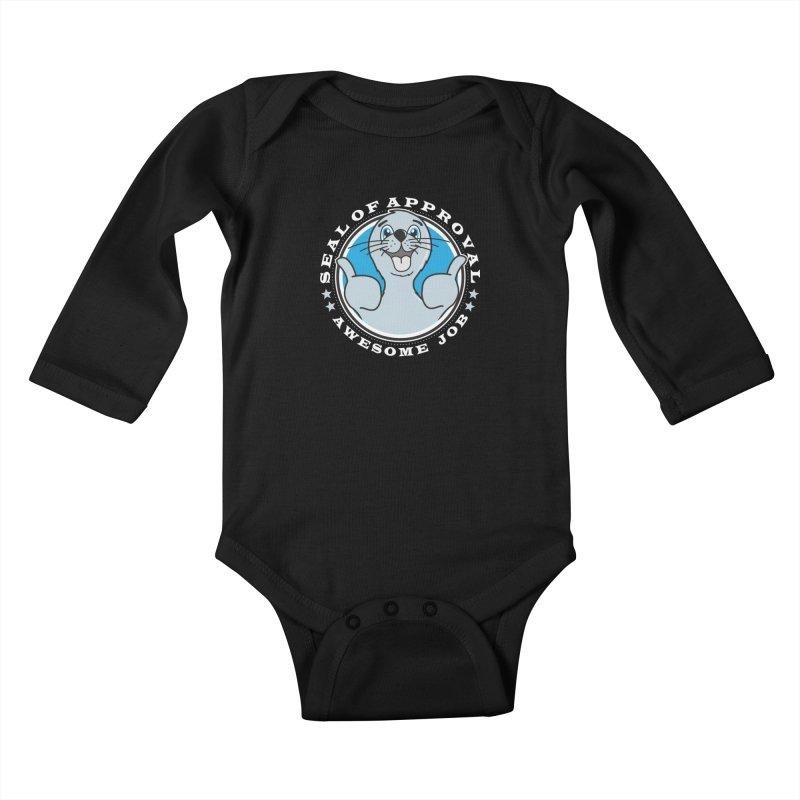Seal of Approval Kids Baby Longsleeve Bodysuit by detourshirts's Artist Shop