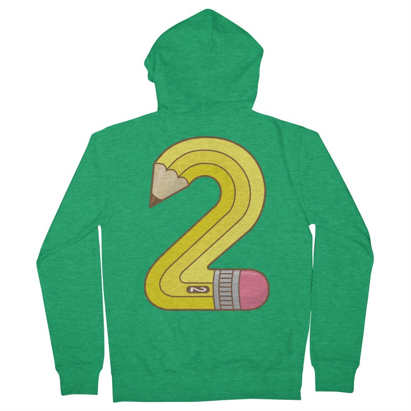 #2 Pencil Men's Zip-Up Hoody by detourshirts's Artist Shop