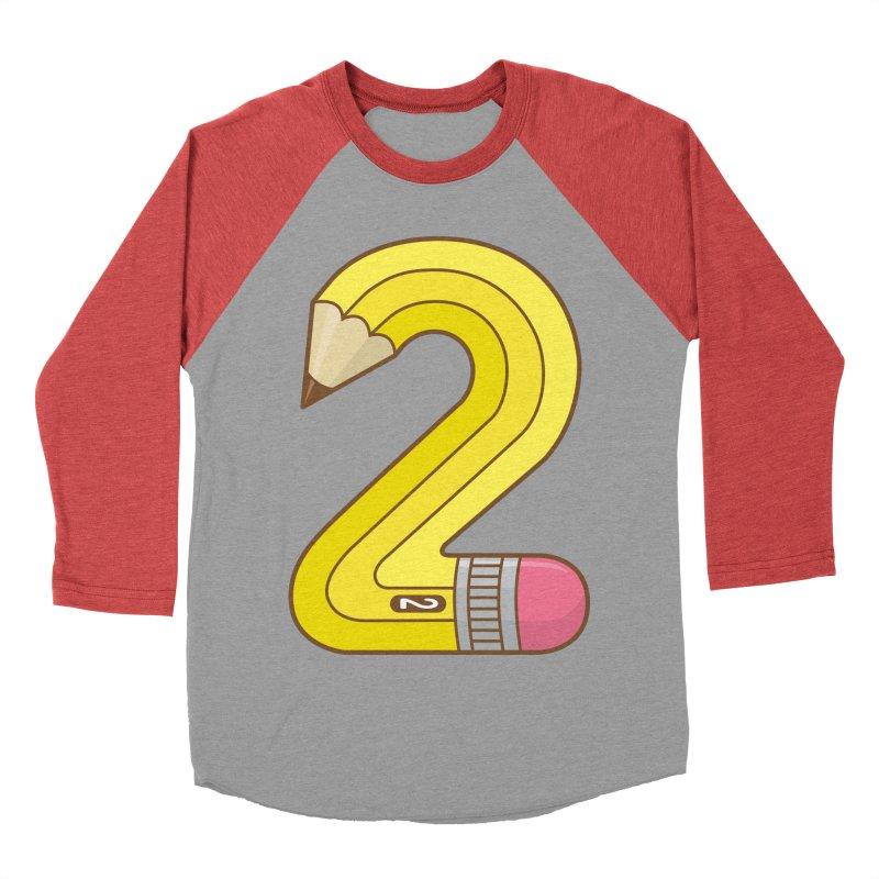 #2 Pencil Men's Baseball Triblend T-Shirt by detourshirts's Artist Shop