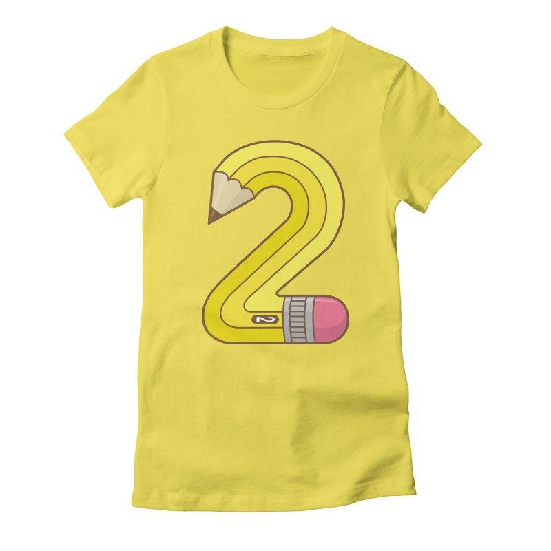 #2 Pencil Women's T-Shirt by Detour Shirt's Artist Shop