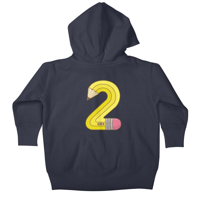 #2 Pencil Kids Baby Zip-Up Hoody by detourshirts's Artist Shop