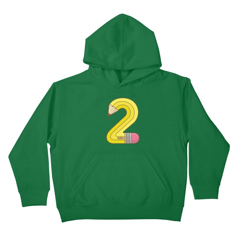#2 Pencil Kids Pullover Hoody by detourshirts's Artist Shop