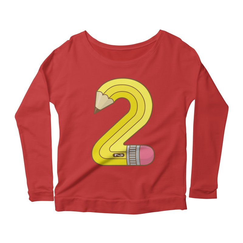 #2 Pencil Women's Longsleeve Scoopneck  by detourshirts's Artist Shop