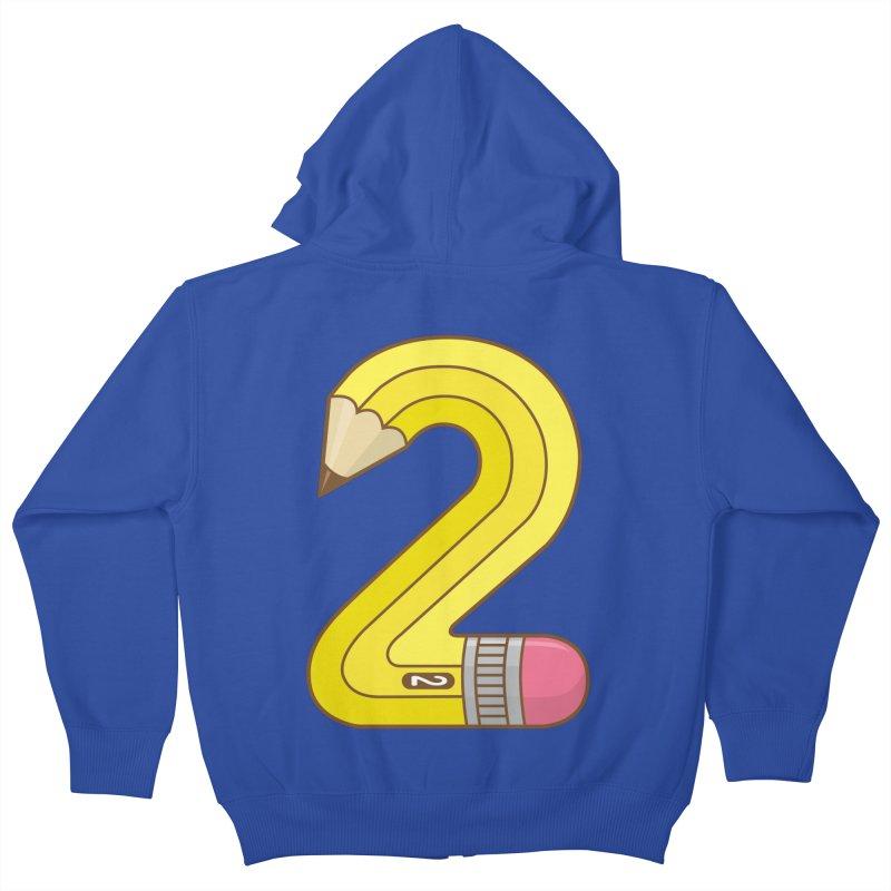 #2 Pencil Kids Zip-Up Hoody by detourshirts's Artist Shop