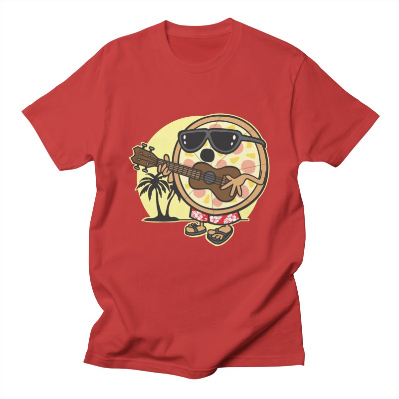 Hawaiian Pizza in Men's T-Shirt Red by detourshirts's Artist Shop