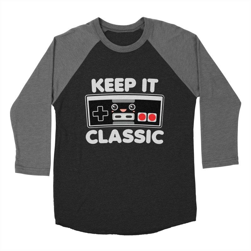 Keep It Classic Women's Baseball Triblend Longsleeve T-Shirt by Detour Shirt's Artist Shop