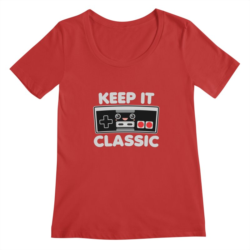 Keep It Classic Women's Regular Scoop Neck by Detour Shirt's Artist Shop