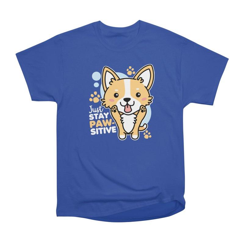 Just Stay Pawsitive Men's Heavyweight T-Shirt by Detour Shirt's Artist Shop