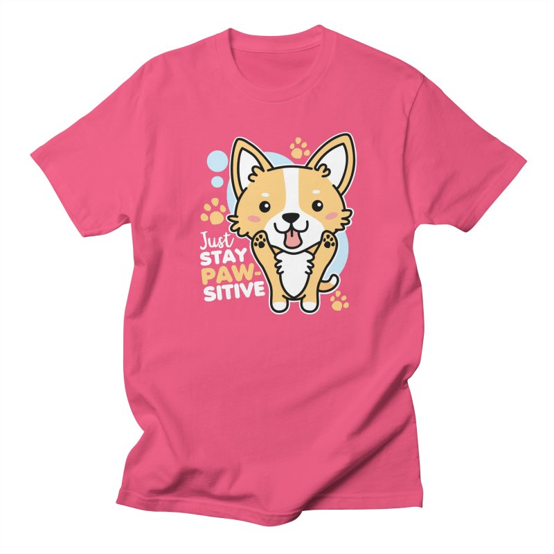 Just Stay Pawsitive Men's Regular T-Shirt by Detour Shirt's Artist Shop