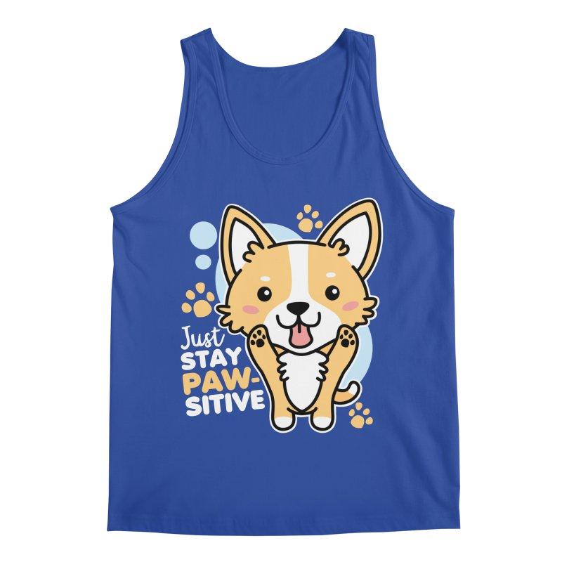 Just Stay Pawsitive Men's Regular Tank by Detour Shirt's Artist Shop