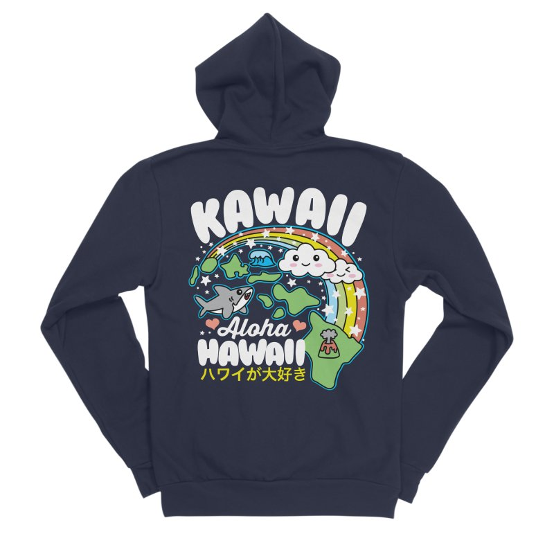 Kawaii Hawaii Men's Sponge Fleece Zip-Up Hoody by Detour Shirt's Artist Shop