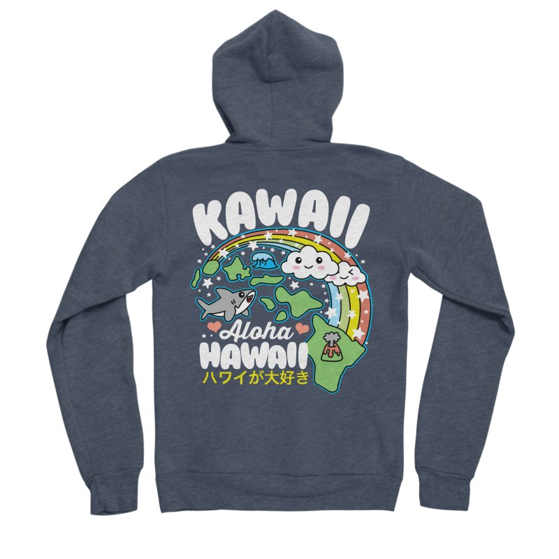 Kawaii Hawaii Women's Sponge Fleece Zip-Up Hoody by Detour Shirt's Artist Shop