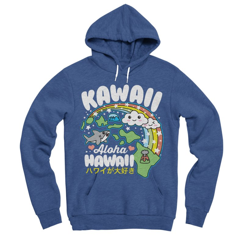Kawaii Hawaii Men's Sponge Fleece Pullover Hoody by Detour Shirt's Artist Shop