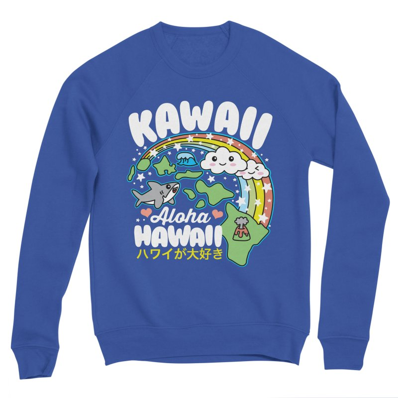 Kawaii Hawaii Men's Sponge Fleece Sweatshirt by Detour Shirt's Artist Shop