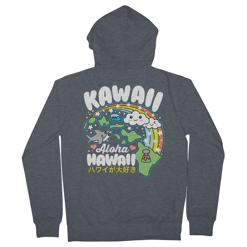 Kawaii Hawaii Men's French Terry Zip-Up Hoody by Detour Shirt's Artist Shop