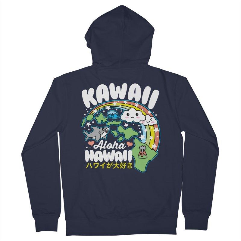 Kawaii Hawaii Men's French Terry Zip-Up Hoody by Detour Shirt's Artist Shop
