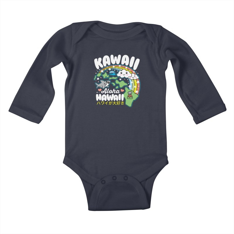 Kawaii Hawaii Kids Baby Longsleeve Bodysuit by Detour Shirt's Artist Shop