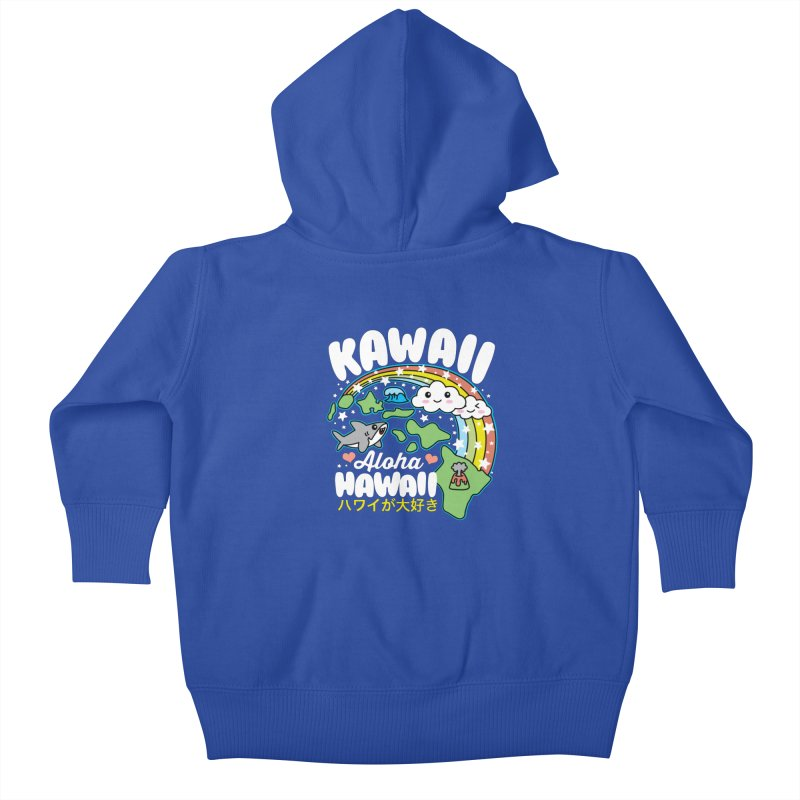 Kawaii Hawaii Kids Baby Zip-Up Hoody by Detour Shirt's Artist Shop