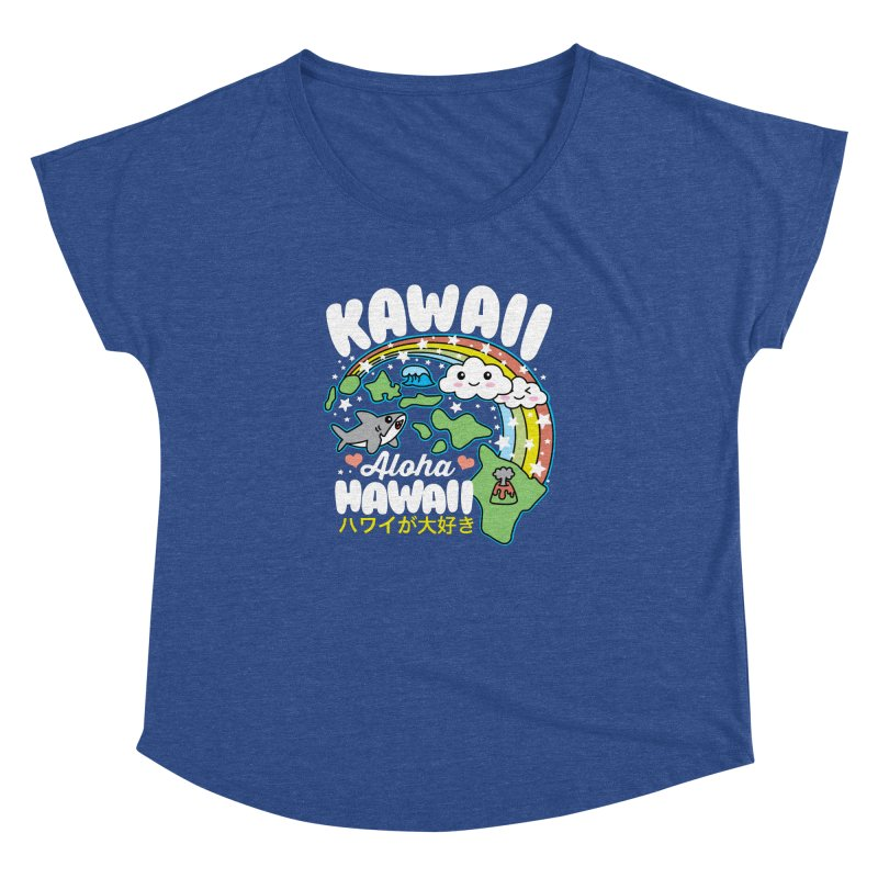 Kawaii Hawaii Women's Dolman Scoop Neck by Detour Shirt's Artist Shop