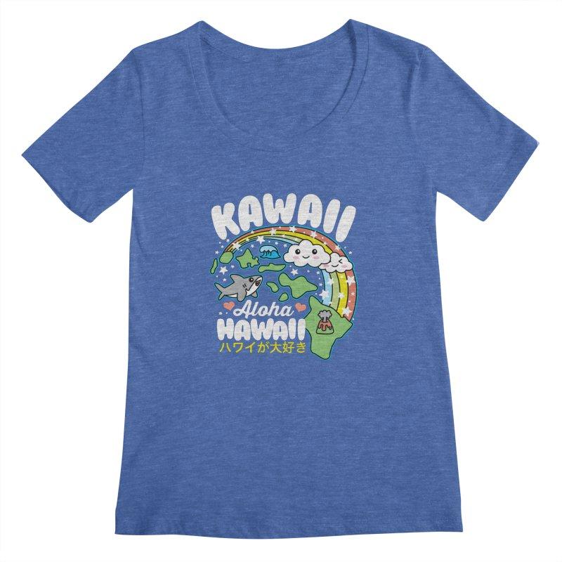 Kawaii Hawaii Women's Regular Scoop Neck by Detour Shirt's Artist Shop