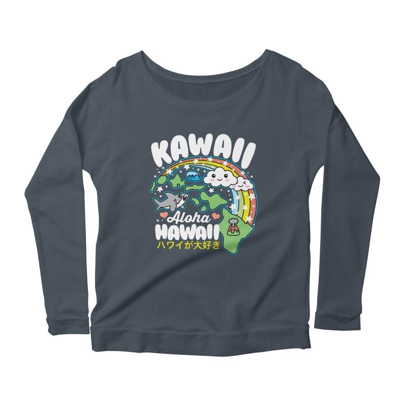 Kawaii Hawaii Women's Scoop Neck Longsleeve T-Shirt by Detour Shirt's Artist Shop