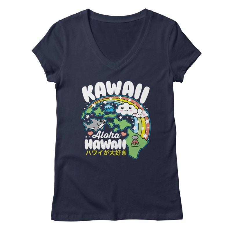 Kawaii Hawaii Women's Regular V-Neck by Detour Shirt's Artist Shop