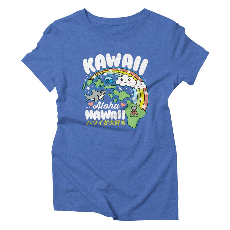 Kawaii Hawaii Women's Triblend T-Shirt by Detour Shirt's Artist Shop
