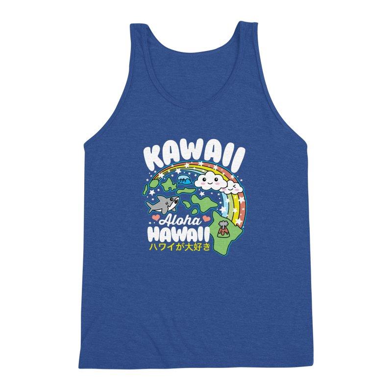 Kawaii Hawaii Men's Triblend Tank by Detour Shirt's Artist Shop