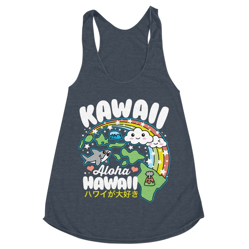 Kawaii Hawaii Women's Racerback Triblend Tank by Detour Shirt's Artist Shop
