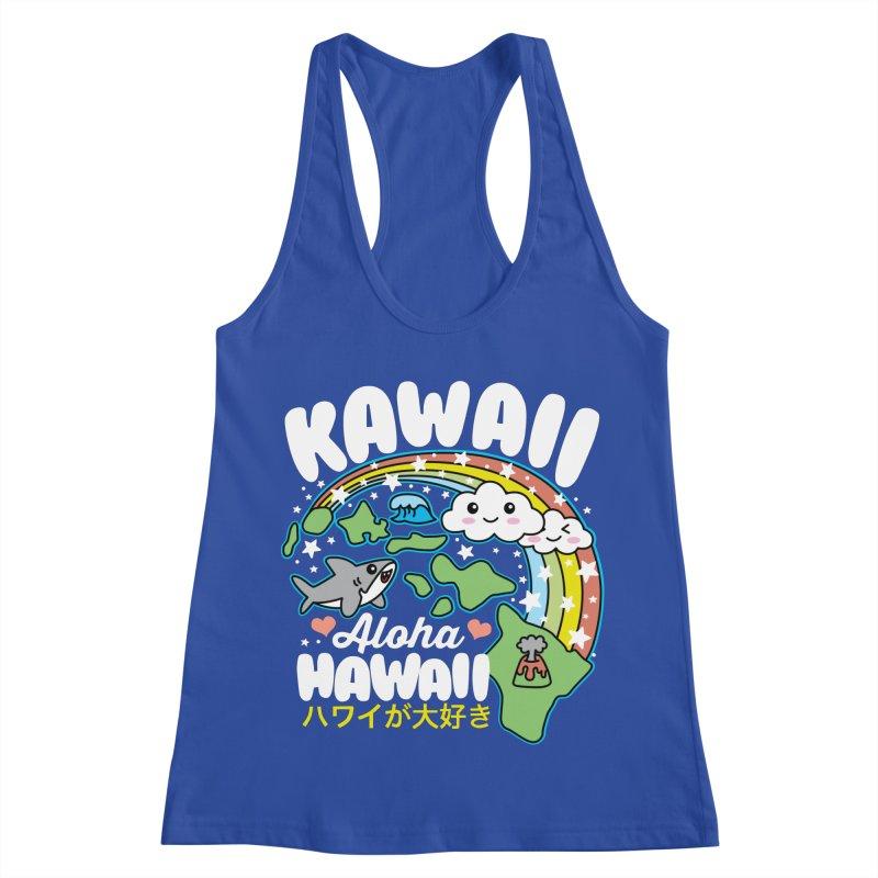 Kawaii Hawaii Women's Racerback Tank by Detour Shirt's Artist Shop